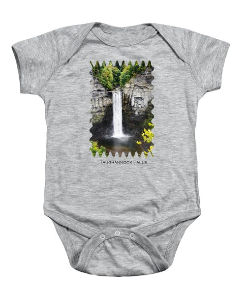 Taughannock Falls View From The Top Baby Onesie by Christina Rollo