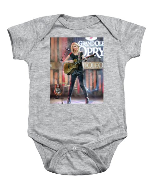 Taylor At The Opry Baby Onesie by Don Olea
