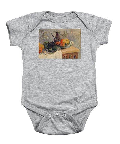 Teiera Brocca E Frutta Baby Onesie by Paul Gauguin