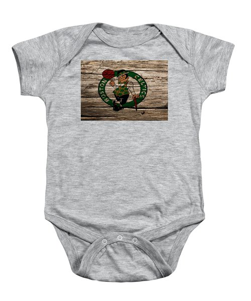 The Boston Celtics W1 Baby Onesie by Brian Reaves