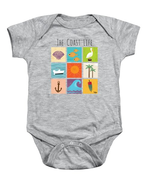 The Coast Life Baby Onesie by Kevin Putman