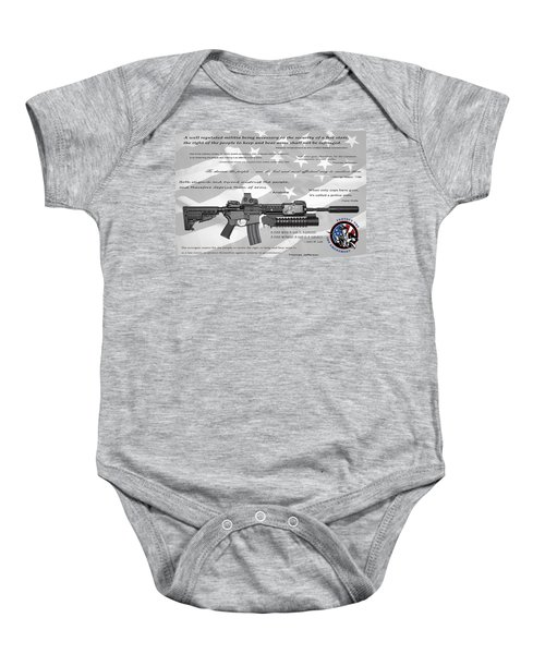 The Right To Bear Arms Baby Onesie by Daniel Hagerman
