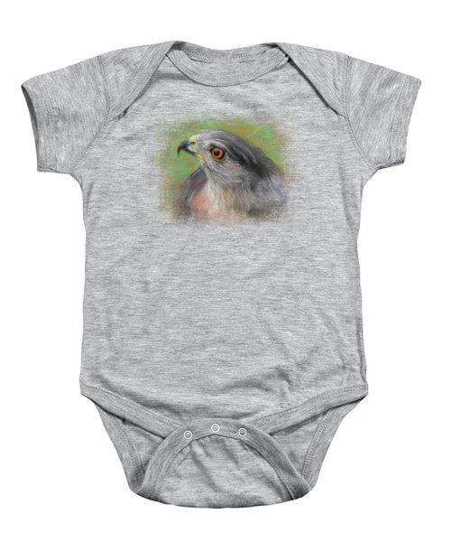 The Sharp Shinned Hawk Baby Onesie by Jai Johnson