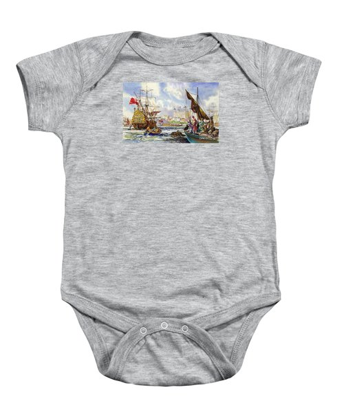 The Tower Of London In The Late 17th Century  Baby Onesie by English School