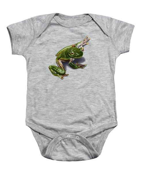 Tree Frog  Baby Onesie by Owen Bell