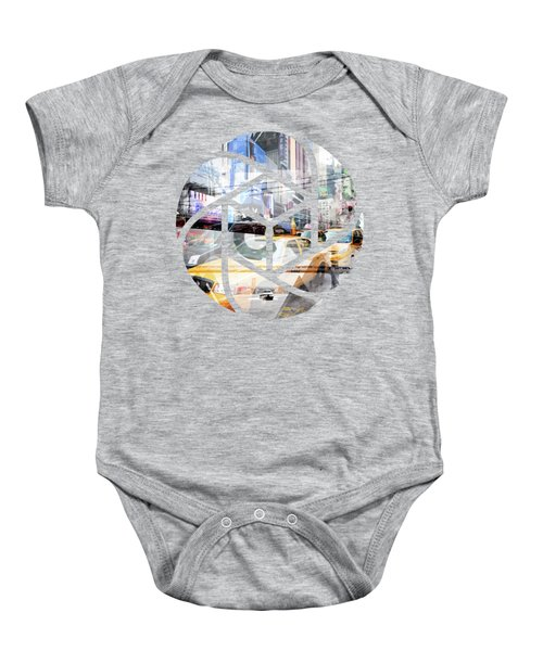 Trendy Design Nyc Geometric Mix No 9 Baby Onesie by Melanie Viola