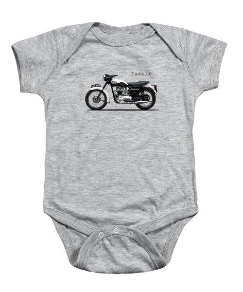 Triumph Tiger 1959 Baby Onesie by Mark Rogan