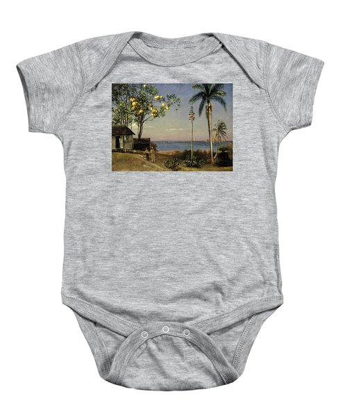 Tropical Scene Baby Onesie by Albert Bierstadt