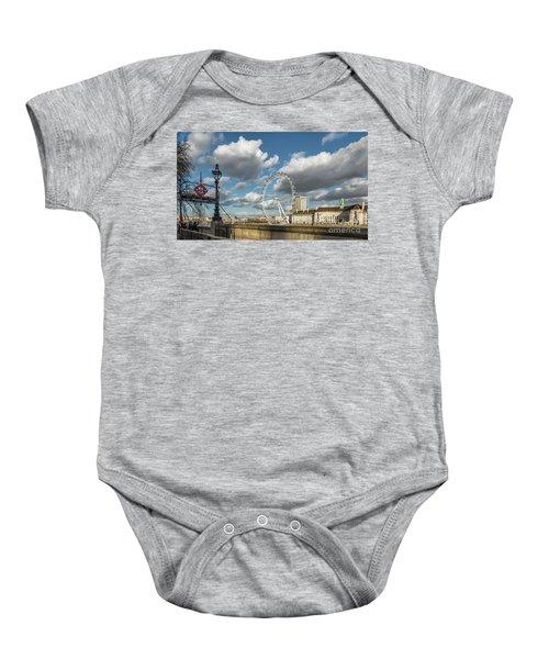 Victoria Embankment Baby Onesie by Adrian Evans