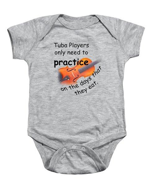 Violins Practice When They Eat Baby Onesie by M K  Miller