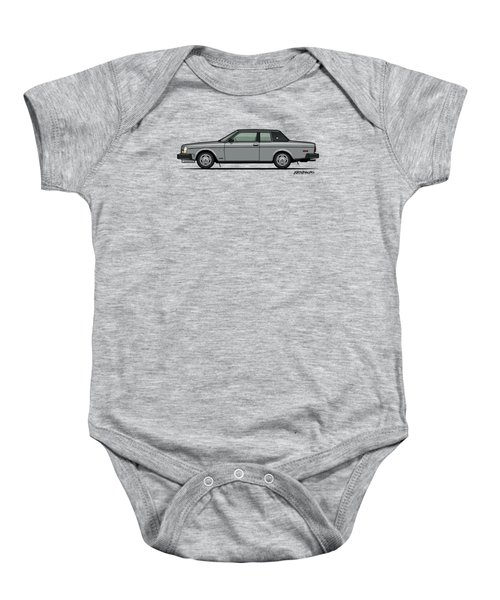 Volvo 262c Bertone Brick Coupe 200 Series Silver Baby Onesie by Monkey Crisis On Mars