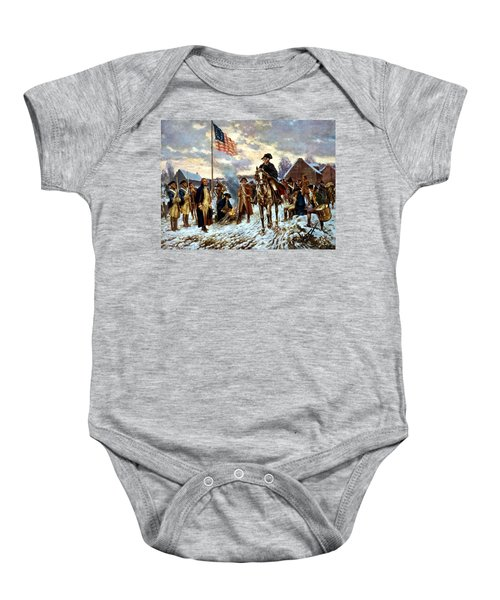 Washington At Valley Forge Baby Onesie by War Is Hell Store