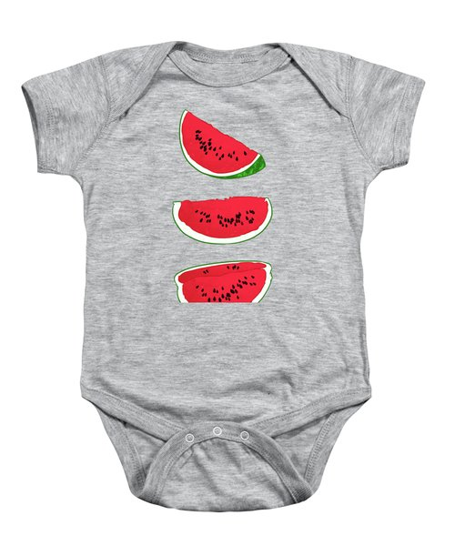 Watermelon Baby Onesie by Evgenia Chuvardina