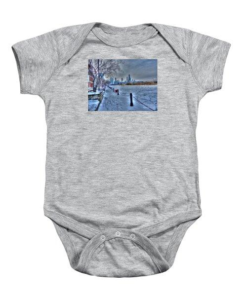 West From Navy Pier Baby Onesie by David Bearden