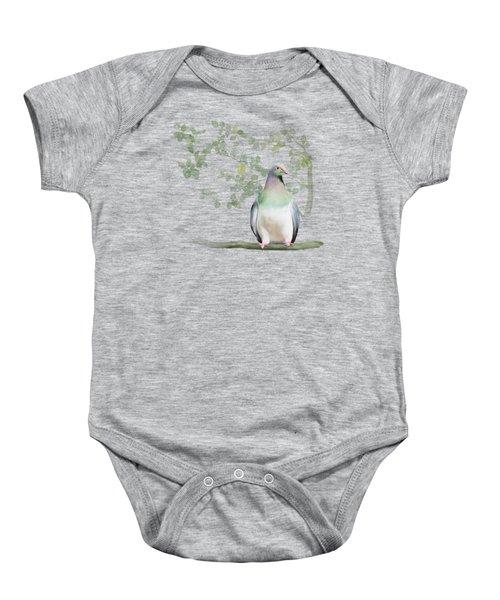 Wood Pigeon Baby Onesie by Ivana Westin