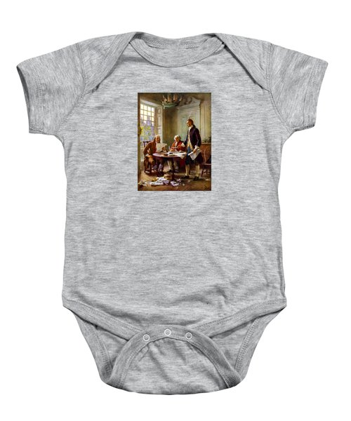 Writing The Declaration Of Independence Baby Onesie by War Is Hell Store
