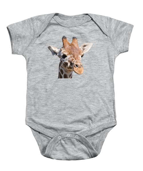 Young Giraffe  Baby Onesie by Scott Carruthers