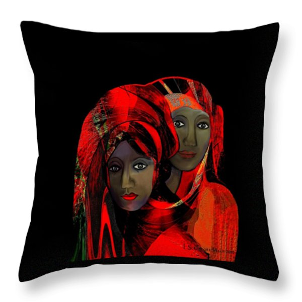 000 - Colour Of Passion Throw Pillow by Irmgard Schoendorf Welch