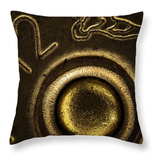 12 Gauge Shotgun Shell Throw Pillow by Bob Orsillo