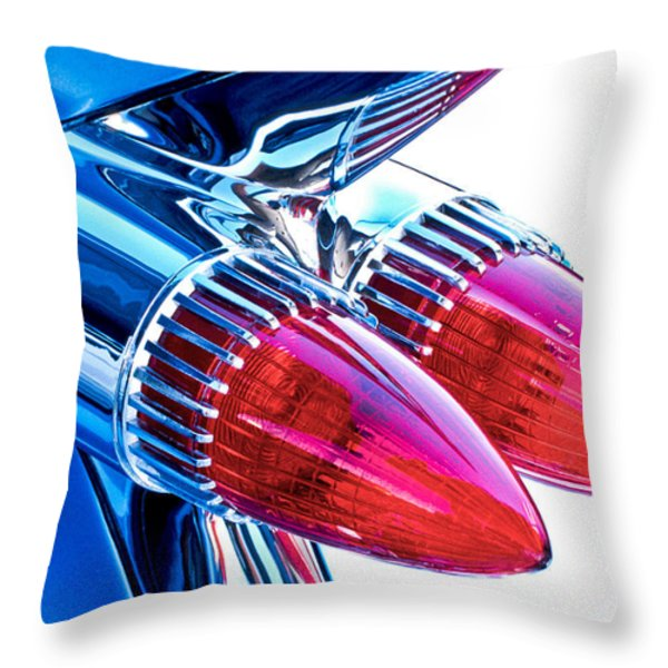1959 Caddy Throw Pillow by David and Carol Kelly