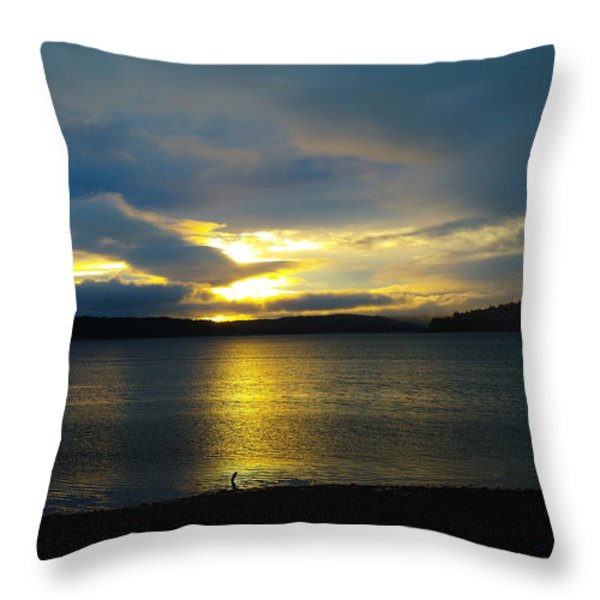 A Slow Sun Rise  Throw Pillow by Jeff  Swan