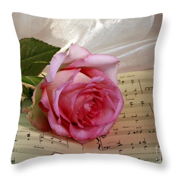 A Tribute To Diana Ross The Rose Throw Pillow by Inspired Nature Photography By Shelley Myke