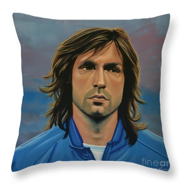 Andrea Pirlo Throw Pillow by Paul Meijering