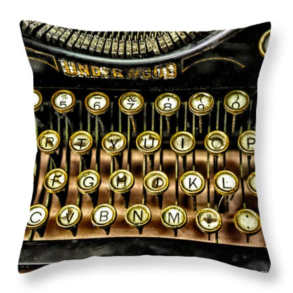 Antique Keyboard Throw Pillow by Christopher Holmes