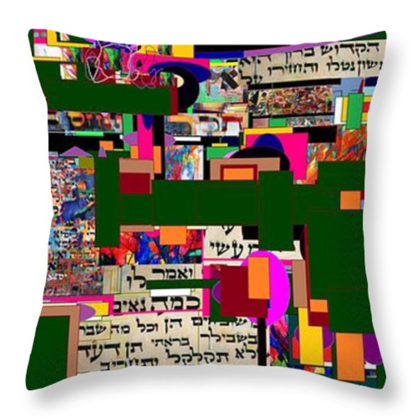 Atomic Bomb of Purity 5a Throw Pillow by David Baruch Wolk