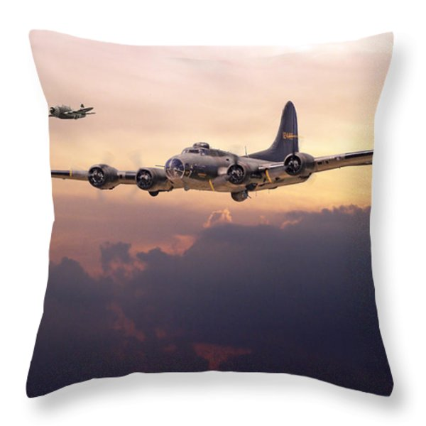 B17- Last Home Throw Pillow by Pat Speirs