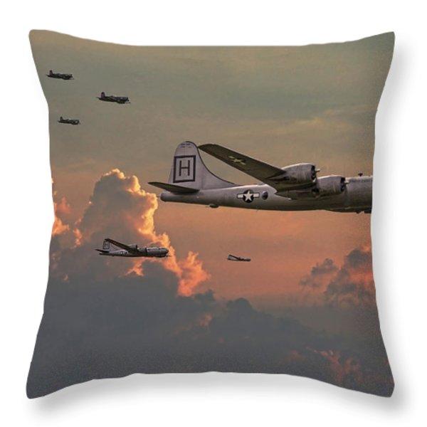 B29 - Korea Throw Pillow by Pat Speirs