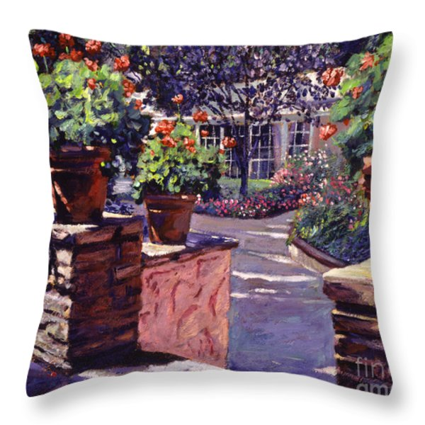 Bel-air Gardens Throw Pillow by David Lloyd Glover