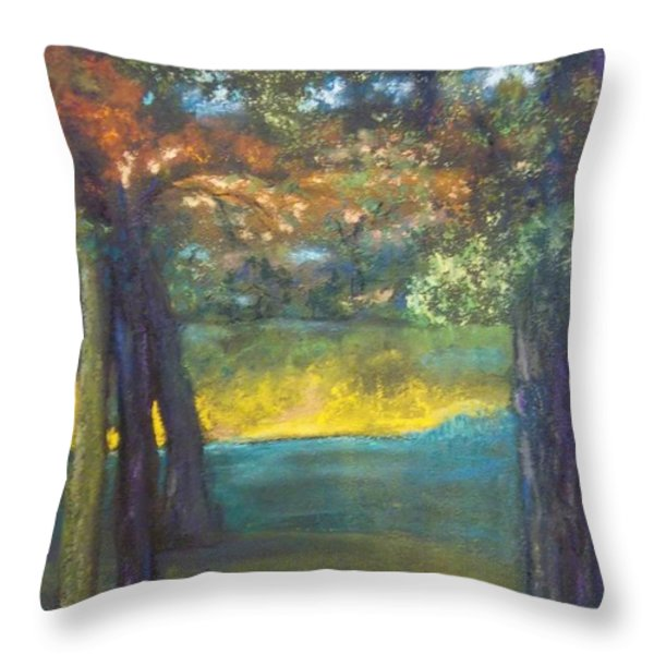 Blazing Autumn Light Throw Pillow by Sandra McClure
