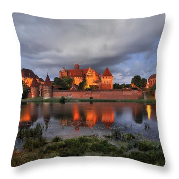 Castle Throw Pillow by Jan Sieminski