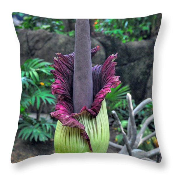 Corpse Flower Throw Pillow by Savannah Gibbs