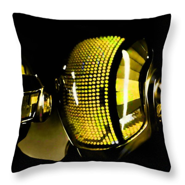 Daft Punk  Throw Pillow by Marvin Blaine
