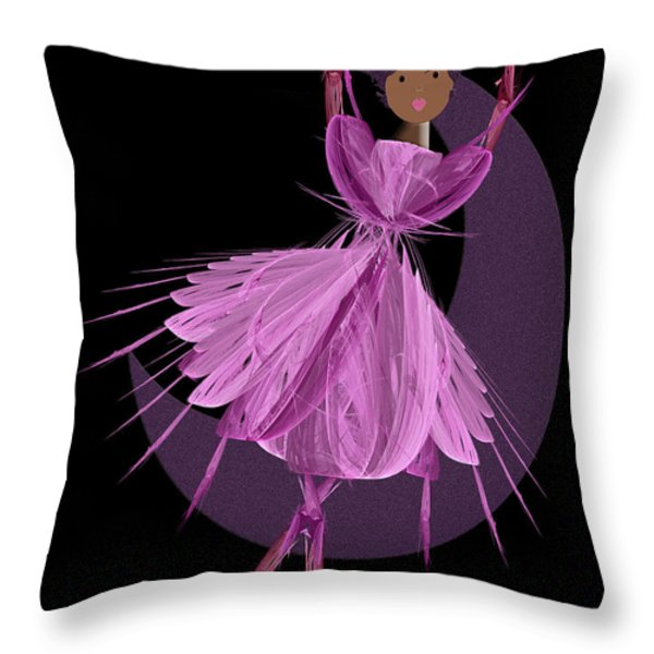 Dancing With The Moon B Throw Pillow by Andee Design
