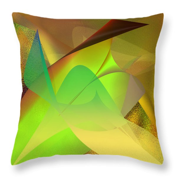 Dreams - Abstract Throw Pillow by Gerlinde Keating - Keating Associates Inc