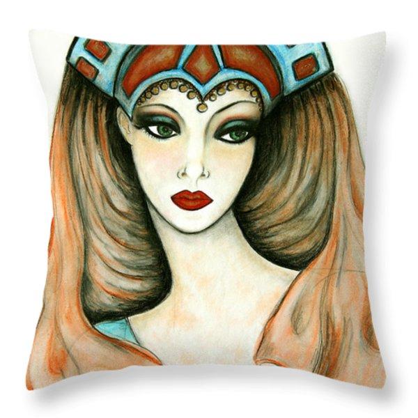 Enigma Throw Pillow by Tara  Shalton