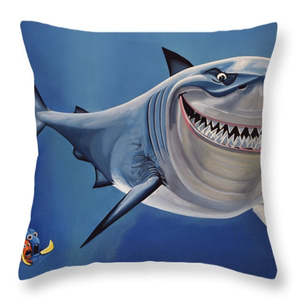Finding Nemo Throw Pillow by Paul  Meijering