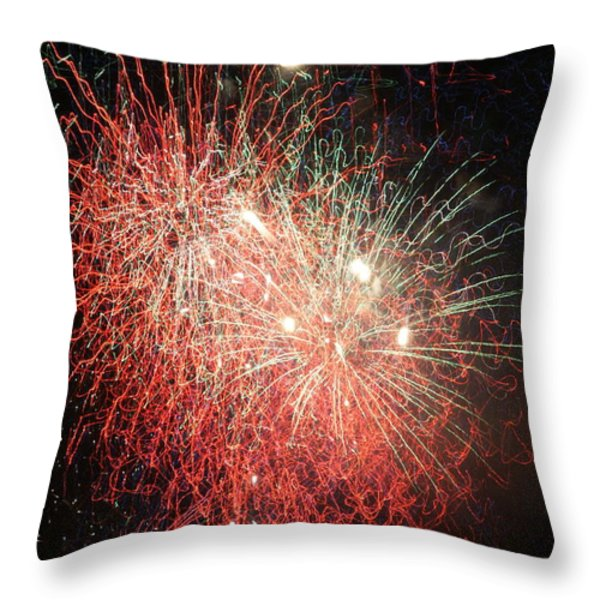 Fireworks Throw Pillow by Alan Hutchins