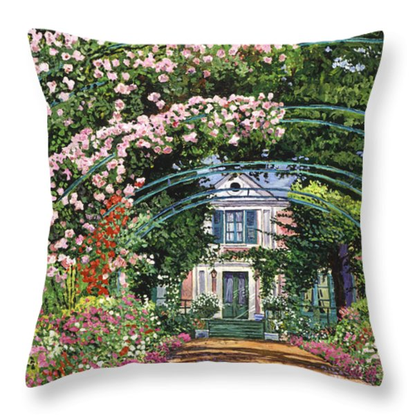Flowering Arbor Giverny Throw Pillow by David Lloyd Glover
