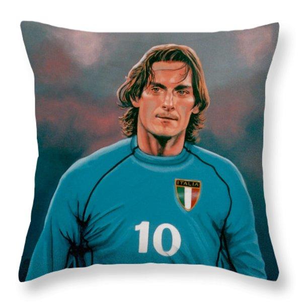 Francesco Totti Italia Throw Pillow by Paul Meijering