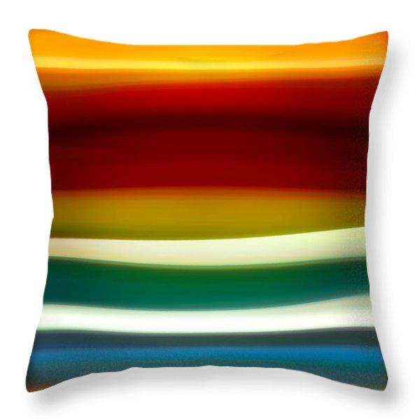 Fury Sea 3 Throw Pillow by Amy Vangsgard