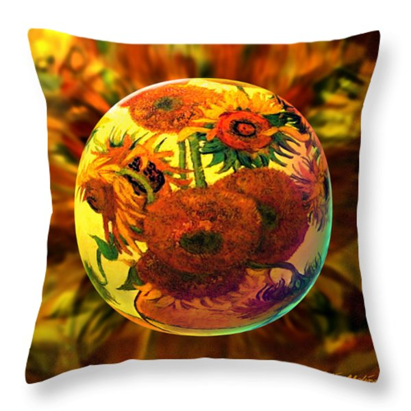 Globing Inflorescence Throw Pillow by Robin Moline
