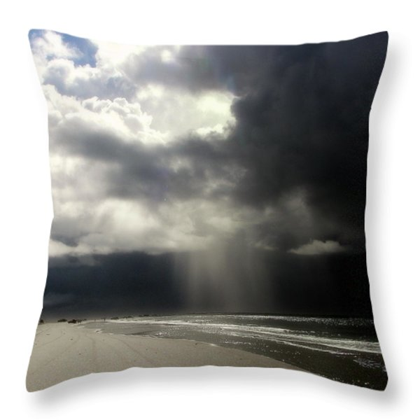 Hurricane Glimpse Throw Pillow by Karen Wiles