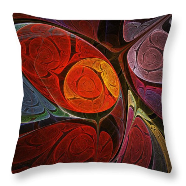 Hypnotic Flower Throw Pillow by Anastasiya Malakhova