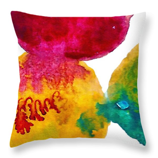 Interactions 3 Throw Pillow by Amy Vangsgard