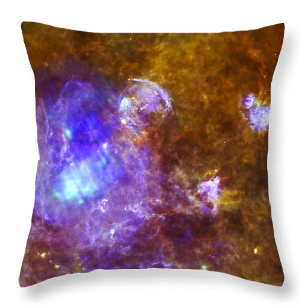 Life And Death In A Star-forming Cloud Throw Pillow by Adam Romanowicz