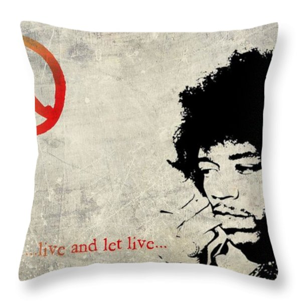 ... Live And Let Live ... Throw Pillow by Andrea Kollo